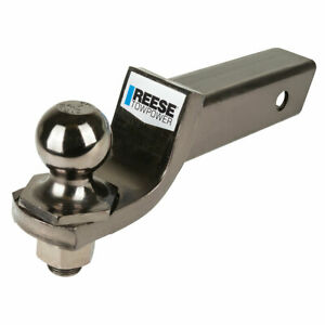 Reese 6 000 Lbs Ball Mount Kit W 2 Ball Pin clip Fits 2 Tow Hitch Receiver