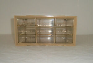Vintage Storage Drawers Akro mills A m Plastic Swirl Cabinet 9 Small Parts