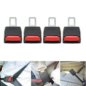 4pcs Car Safety Seat Belt Buckle Extension Extender Clip Alarm Stopper Universal