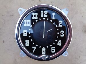 Nos 1950 Hudson Electric Clock Original George W Borg Accessory
