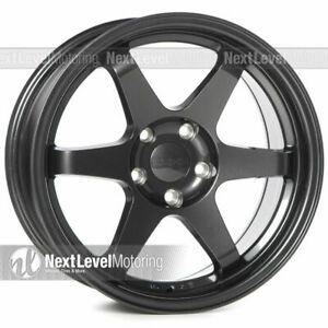 9six9 Six 1 17x9 5x114 3 25 Carbon Gray Te37 Style Wheels Concave Jdm Set Of 4