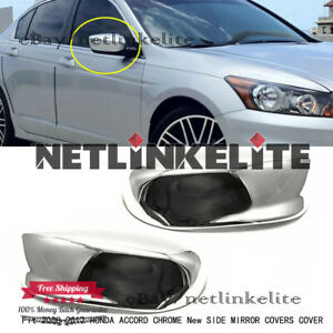 Fit 2008 2009 2010 2011 2012 Honda Accord Chrome New Side Mirror Covers Cover