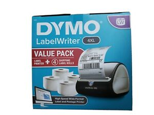 Dymo 4xl Label Printer And 4 Label Rolls 880 Labels Mono Thermal High Speed
