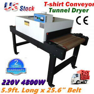 220v Small T shirt Conveyor Tunnel Dryer Conveyor Dryer 5 9ft Long X 25 6 Belt