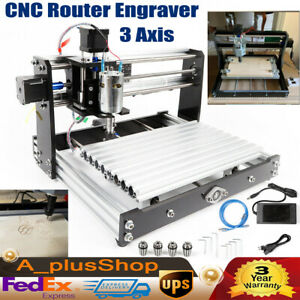 3 Axis Laser Cnc Router Engraver Carving Milling Machine 12w Grbl Control