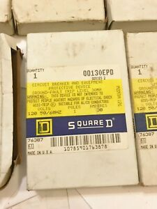 New In Box Square D Qo130epd 30a Plug on Circuit Breaker 1p 120v Best Price