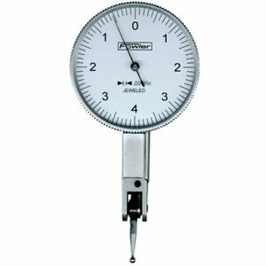 Fowler 52 562 783 0 10 0 0005 grad Dial Test Indicator White Face 1 5 dial
