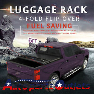 For Toyota Tacoma 2005 2015 Bed Premium Solid Hard Tonneau Cover 6ft Four fold