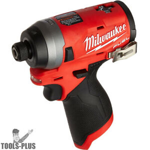Milwaukee 2453 80 M12 Fuel Lithium ion 1 4 Hex Impact Driver tool Only