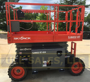 New Zero Hours 2020 Skyjack 6832 Rt rough Terrain Scissor Lift
