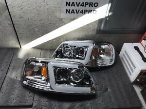 1997 2003 Ford F 150 1997 2002 Ford Expedition Led Bar Drl Headlight Pair h31