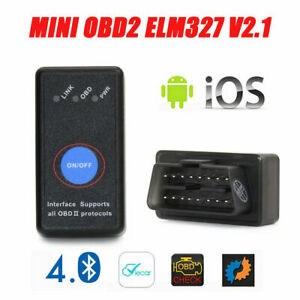 Obd2 Car Bluetooth Scanner Code Reader Obdii Elm 327 Diagnostic Tool Ios Android