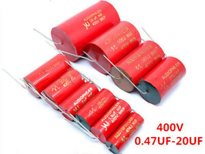Audiophiler Mkp 400v 0 47 1 2 2 4 7 5 6 8 2 10 12 20uf Audio Mkp Capacitor Red