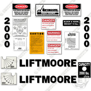 Liftmoore 2000 Decal Kit Crane Arm Replacement Stickers 7 year Vinyl 3m