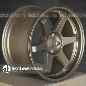 9six9 Six 1 18x10 5x120 35 Matte Bronze Te37 Style Wheels Fits Bmw 3 4 5 Series