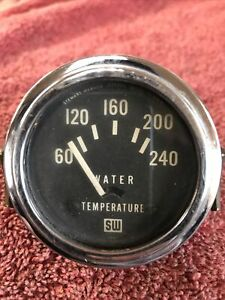 Stewart Warner Vintage 12v Electric Water Temperature Gauge Hot Rat Rod