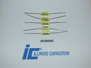 Illinois 047uf 630vcapacitors Polypropylene Film Axial Lead Capacitor Set 5