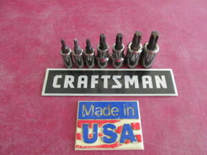 Vintage Sears Craftsman Usa 7 Pc Torx Bit Socket Set Gk Series Vg Used Cond