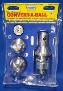 New Convert A Ball 903b 1 Shank With 1 7 8 2 Solid Stainless Steel Ball Set