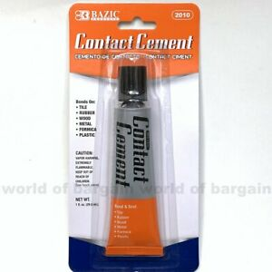 Rubber Contact Cement Strong Bond Adhesive Wood Metal Formica Plastic Fabric 1oz