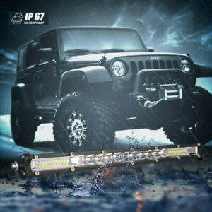 20inch 1200w Led Light Bar Dual Row Spot Flood Combo Work Ute Truck Suv Atv 22