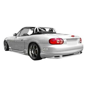 For Mazda Miata 99 05 Rear Bumper Lip Under Air Dam Spoiler Wizdom Style