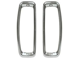 New 1966 77 Bronco Taillight Doors Lh Rh 64 66 F100 F250 Stainless Bezels Ford