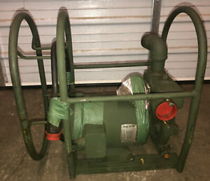 Nos Barnes Electric Centrifugal Water Pump 1 5 2hp 208v 3 Ph 65 Gpm Military