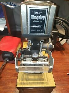 Kingsley Hot Foil Stamping Machine Model Am 101 With Foot Pedal accessories