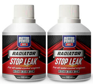 2 X Bottles Radiator Stop Leak Head Gasket Sealer High Quality Motor Power Care