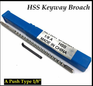 Hss Keyway Broach 1 8 Inch A Push Type Metric Size Metalworking Tool Accessory