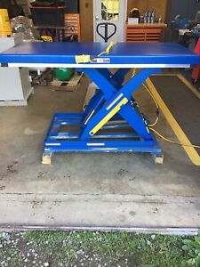 New Electric Hydraulic Scissor Lift Table 30 X 72 table 3000lbs Cap