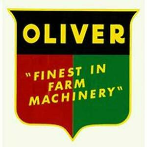 R4345 Oliver Shield Decal Finest In Farm Machinery Fits Oliver