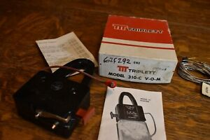 Triplett Model 10 Ac Clamp Ammeter Adapter In Original Box With Papers