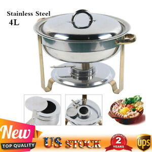4l Chafing Dish Buffet Food Warmer Pan Insulation Container Kits Stainless Steel