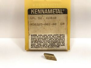 Kennametal Npl52 New Carbide Inserts Grade Kc810 10pcs