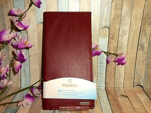 Faux Leather 96 Rolodex Business Card Book Burgundy Slim New Fast Shipping