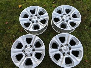 Set Of 4 Toyota 17 X 7 Oem Tacoma 4runner Wheels Rims Center Caps Nr Mint Cond