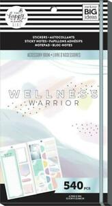 The Happy Planner Wellness Warrior Accessory Book 540 New