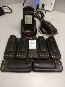 Lot Of Motorola Mototrbo Batteries And Charger Pmnn4069a For Dp And Xpr Radios
