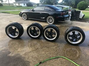 17 Wheel Tire Set Fit Ford Mustang Bullitt Style Black Rims Nitto Tires