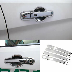 Fit For Ford Explorer 2011 2019 Chrome Stainless Outside Door Handle Cover Trim