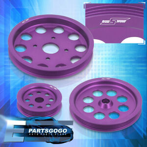 For Skyline Rb20 rb25 Crank Pulley Wheel Purple Power Steering Water Alternator