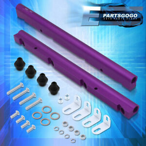For Ls1 Ls6 Billet Aluminum Engine Intake Fuel Rail Injection Delivery Kit Purp