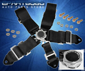 5 Point Camlock Fast Release Racing Seat Belt Harness Black Mustang Cobra Focus