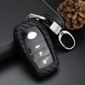 Remote Key Fob Case Keychain Cover For Toyota Camry Rav4 Prius Keyfob Shell Bag