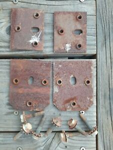 1966 1967 Ford Fairlane Falcon Ranchero Comet Door Hinge Bolt Plates
