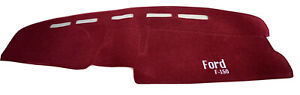 1992 1993 1994 1995 1996 Ford F 150 f 250 f 350 Dash Cover Red Velour