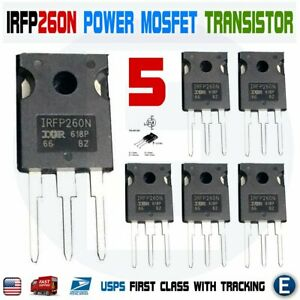 5pcs Irfp260n Power Mosfet Irfp260 N channel Transistor 50a 200v To 247