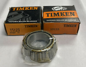 Timken 15123 Tapered Roller Bearing Cone Lot Of 2 Nos